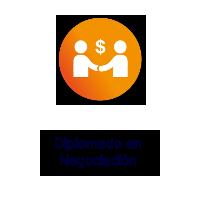 Logo Texto Diplomado en Negociación